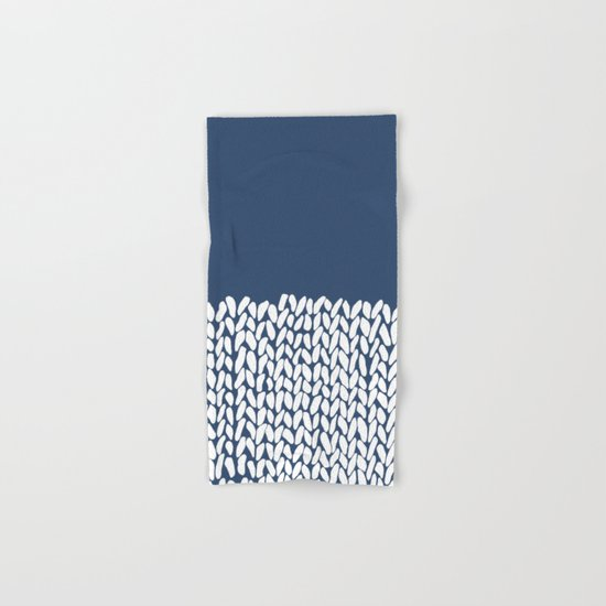 Half Knit Navy Hand & Bath Towel
