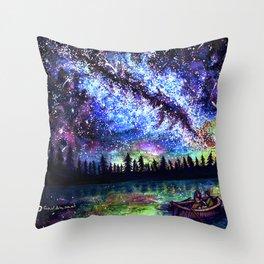 Love under the stars Throw Pillow