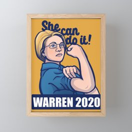 Elizabeth Warren 2020 Framed Mini Art Print