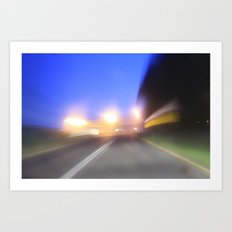 night drive Art Print