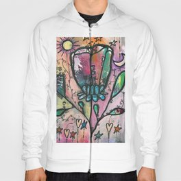 Bloom under sun moon and stars Hoody