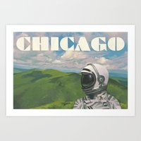 chicago Art Prints featuring Chicago by Scott Listfield