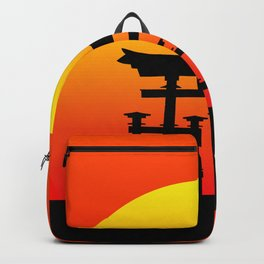 Sunset and Torii in Japan Backpack