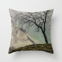 ON THE BRINK / Møns Klint, Denmark Throw Pillow
