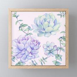 Wonderful Succulents Framed Mini Art Print