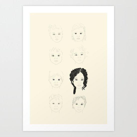 Unborn babies Art Print