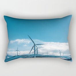 The Wind Farm (Color) Rectangular Pillow