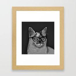 She's A Cool Cat Framed Art Print
