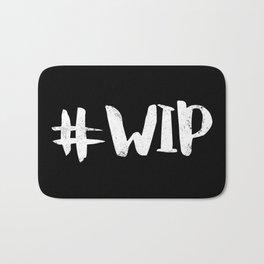 #WIP (White on Black) Bath Mat