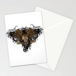 Gas Mask Angel Stationery Cards