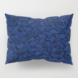 Deep Blue Kangaroos Pillow Sham