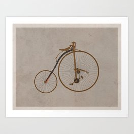 Antique High Wheel Bicycle Art Print