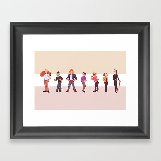 Off-Hours Framed Art Print