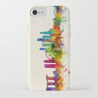 singapore iPhone & iPod Cases featuring Singapore Skyline by artPause