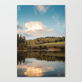 Clouds over the Lake Canvas Print