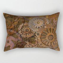 Changing Gear - Steampunk Gears & Cogs Rectangular Pillow