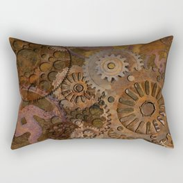 Changing Gear - Steampunk Gears & Cogs Rectangular Pillow