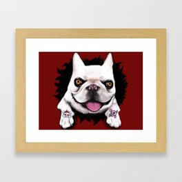 Bulldog Tattoo Framed Art Print