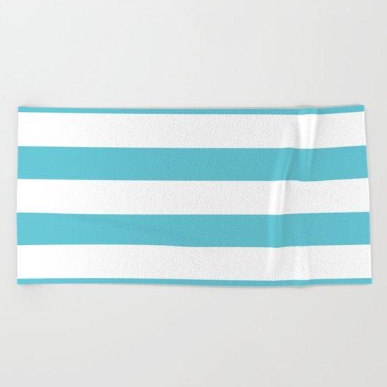 Simply Stripes in Seaside Blue Beach Towel