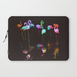 Rainbow Flamingos Laptop Sleeve