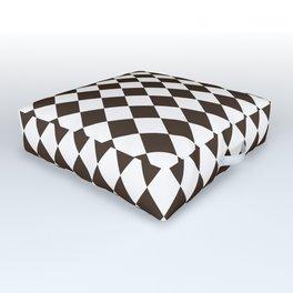 Cocoa Brown Modern Diamond Pattern Outdoor Floor Cushion