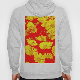 RED-YELLOW COREOPSIS FLOWERS ART Hoody