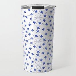 Blue flowers pattern of campanula Travel Mug