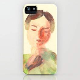 Lady in waiting iPhone Case