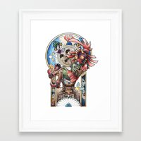 majora Framed Art Prints featuring The song of Majora by Alejandra Vindas