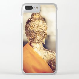 Buddha the other side Clear iPhone Case