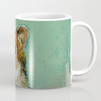 hamster Mugs featuring Hamster by Michael Creese