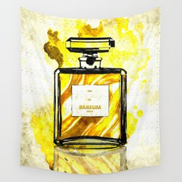 Parfum Gold Wall Tapestry