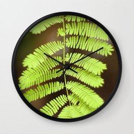 Vivid Small Green Leaves Wall Clock