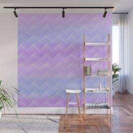 Chevron Candy floss Wall Mural