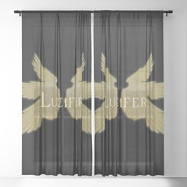 Lucifer with Wings Light Sheer Curtain