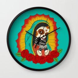 Virgin de Guadalupe Sugar Skull Wall Clock