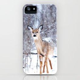 Deer In Snow iPhone Case