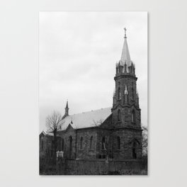 XVth Century Church (B&W film shot) Canvas Print