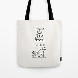 Inhale Exhale Shar Pei Tote Bag