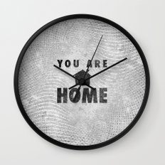 You Are Home Wall Clock