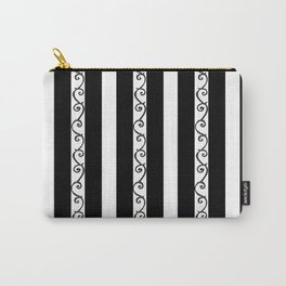 Stripes and Thorny Vines by Dark Decors - Black and Whites Carry-All Pouch