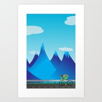 cycle Art Prints featuring Cycle by kylecschaeffer