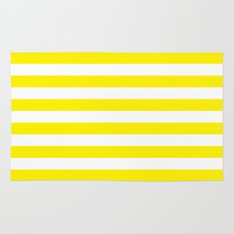Horizontal Yellow Stripes Rug