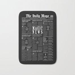 The Daily Mage Fantasy Newspaper II Bath Mat