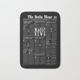 The Daily Mage Fantasy Newspaper II Bath Mat