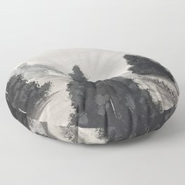 The silver lining Floor Pillow