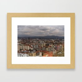 Over The Rooftops of Ljubljana Framed Art Print