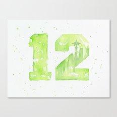 12th Man Seattle Art Canvas Print