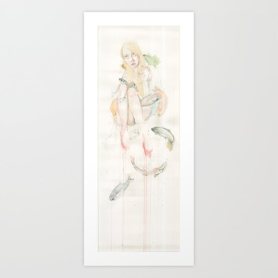 Genesis and the Little Mermaid Art Print