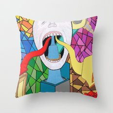Spitting Out Throw Pillow